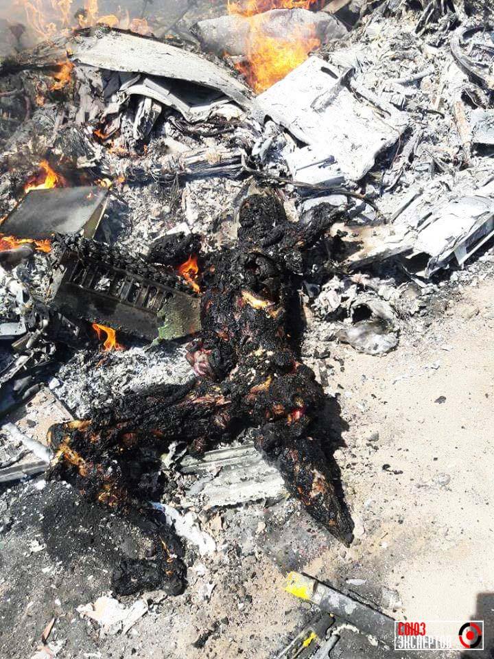 В Сирии сбили российский военный вертолет Ми-8