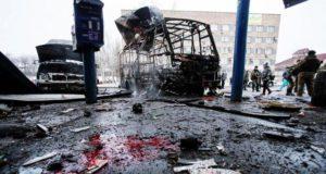 Мощный взрыв в Донецке в районе улицы 50 лет СССР около школы № 9 произошел сегодня днем.