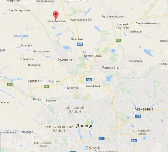 Карта Донецк